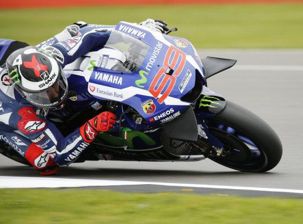 2016 MotoGP Championship.  British Grand Prix.  Silverstone, England. 2nd - 4th September 2016.  Jorge Lorenzo, Yamaha.  Ref: _MG_3458a. World copyright: Kevin Wood/LAT Photographic