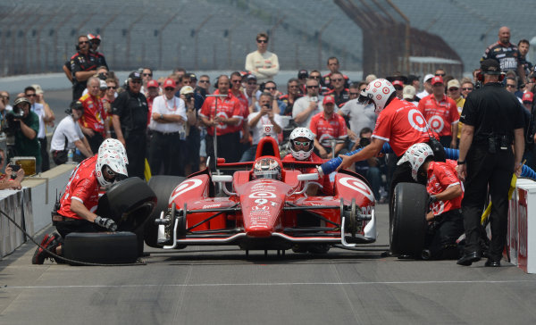 25 May, 2012, Indianapolis, Indiana USAScott Dixon #9 Target Chip Ganassi Racing during pitstop competition(c)2012 Dan R. Boyd LAT Photo USA
