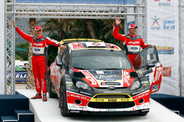 Round 06 - Rally Acropolis Greece. 24-27 May 2012. Martin Prokop, Ford WRC, Podium. Worldwide Copyright: McKlein/LAT