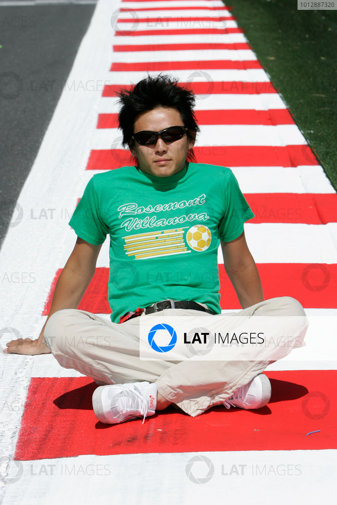 2005 GP2 Series - FranceCircuit Nevers Magny-Cours, France 1st - 3rd July 2005Friday PracticeHiro Yoshimoto (J, BCN Competicion). Portrait. World Copyright: GP2 Series Media Service ref: Digital Image Only