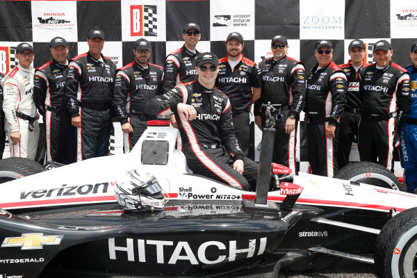 Josef Newgarden, Team Penske Chevrolet, podium, team