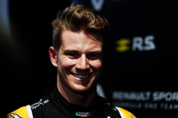 Renault  RS17  Formula 1 Launch. The Lindley Hall, London, UK. Tuesday 21 February 2017. Nico Hulkenberg, Renault Sport F1.  World Copyright: Glenn Dunbar/LAT Images Ref: _X4I9998