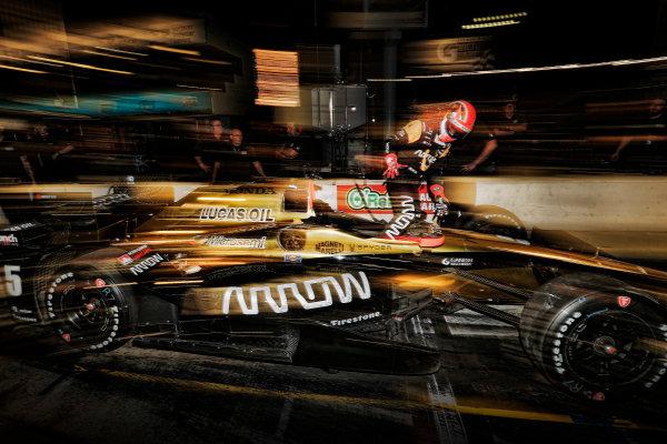2017 IndyCar Media Day - Track Action Phoenix Raceway, Arizona, USA Saturday 11 February 2017 James Hinchcliffe World Copyright: Michael L. Levitt/LAT Images ref: Digital Image _AT_3987