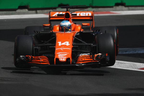 Baku City Circuit, Baku, Azerbaijan. Friday 23 June 2017. Fernando Alonso, McLaren MCL32 Honda. World Copyright: Glenn Dunbar/LAT Images ref: Digital Image _X4I0275