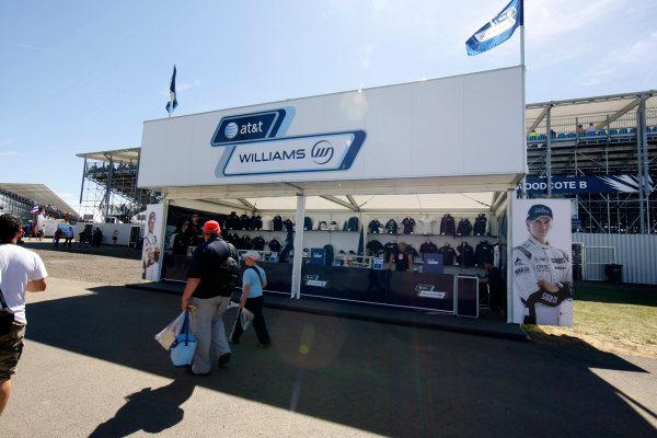Silverstone, Northamptonshire, England 9th July 2010 Williams merchandise stand.World Copyright: Jed Leicester//LAT Photographic ref: Digital Image _ED_4543