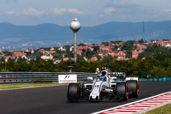 Hungaroring, Budapest, Hungary.  Friday 28 July 2017. Lance Stroll, Williams FW40 Mercedes. World Copyright: Andy Hone/LAT Images  ref: Digital Image _ONY9368