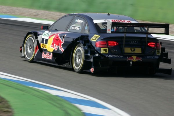 Matias Ekstrom (SWE) Audi Sport Team Abt Sportsline  DTM, Rd 1, Hockenheim, Germany, 12-13 April 2008.