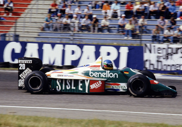 1986 Spanish Grand Prix. Jerez, Spain. 11-13 April 1986. Gerhard Berger (Benetton B186 BMW). Ref-86 ESP 54. World Copyright - LAT Photographic