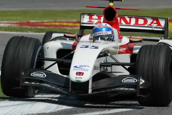 2004 San Marino Grand Prix - Friday Practice,Imola, Italy.23rd April 2004Anthony Davidson, BAR Honda 006, action.World Copyright LAT PhotographicDigital image only.