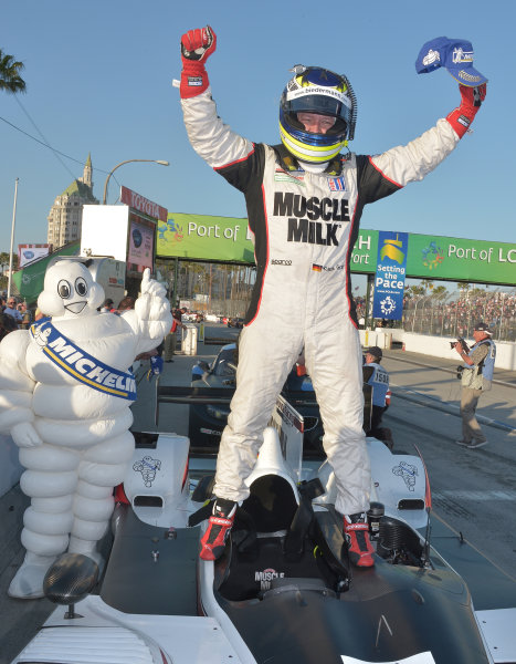 19-20 April, 2013, Long Beach, California.#6 Muscle Milk Picket Racing's Klaus Graf, overall and P1 winner ©2013 Dan R. Boyd LAT Photo USA