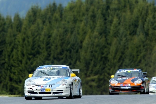 Marcel Tiemann (MON) Manthey Racing finished fourth.Porsche Supercup Rd3, A1-Ring, Austria, 12 May 2002.DIGITAL IMAGE