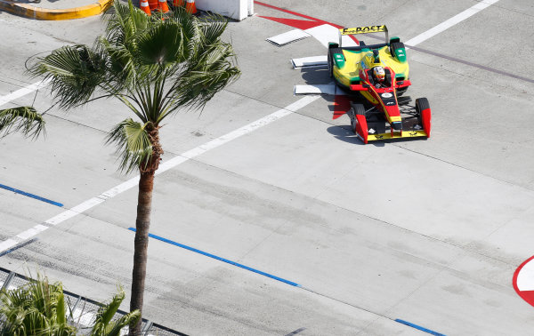 2014/2015 FIA Formula E Championship. Long Beach ePrix, Long Beach, California, United States of America. Friday 3 April 2015 Daniel Abt (GER)/Audi Abt Sport - Spark-Renault SRT_01E  Photo: Jed Leicester/LAT/Formula E ref: Digital Image _JL20232