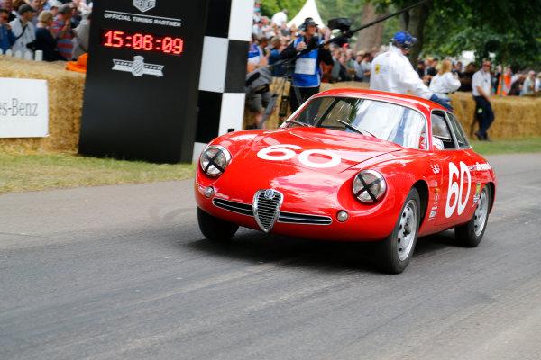 2014 Goodwood Festival of Speed  Goodwood Estate, West Sussex, England. 26th - 29th June 2014.  Sunday 29 June 2014. Alfa Romeo Giulietta SZ 1960.  World Copyright: Adam Warner/LAT Photographic. ref: Digital Image _L5R7522