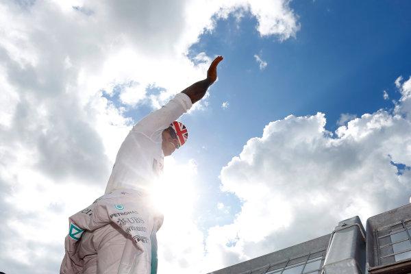 Silverstone, Northamptonshire, England. Sunday 6 July 2014. Lewis Hamilton, Mercedes AMG. World Copyright: Andrew Ferraro/LAT Photographic. ref: Digital Image _FER1875