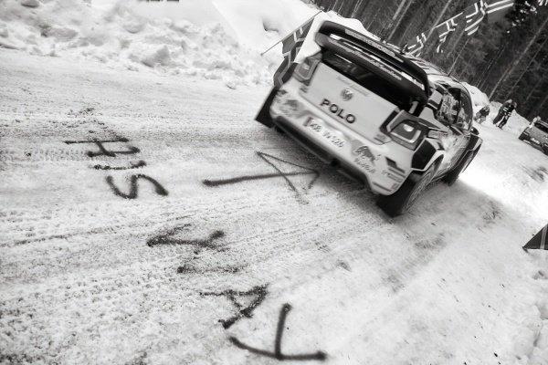Sebastien Ogier (FRA) / Julien Ingrassia (FRA), Volkswagen Polo R WRC at World Rally Championship, Rd2, Rally Sweden, Preparations and Shakedown, Karlstad, Sweden, 12 February 2015.