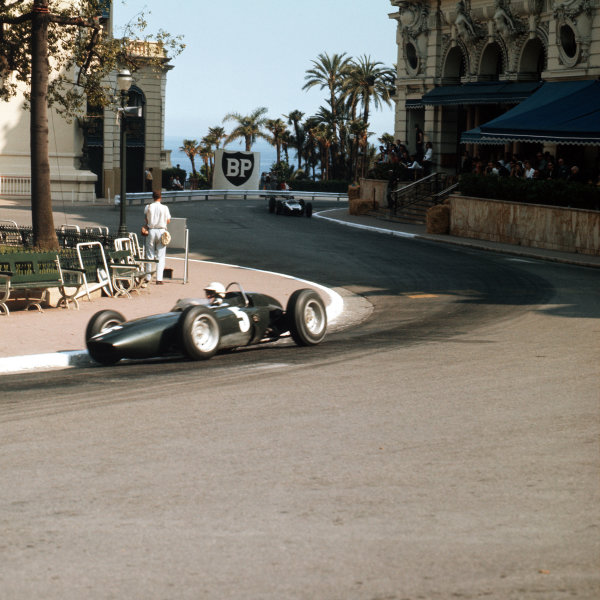 Monte Carlo, Monaco.23-26 May 1963.Richie Ginther (BRM P57) 2nd position.Ref-3/0923.World Copyright - LAT Photographic