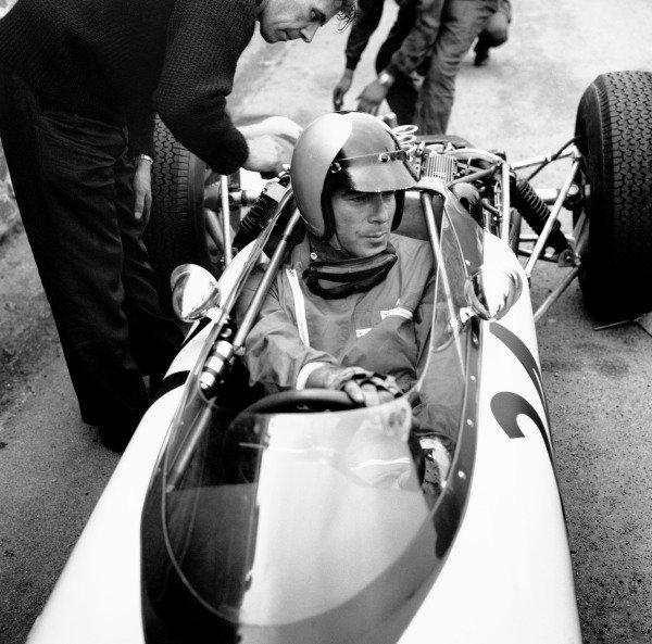 Spa-Francorchamps, Belgium. 7 - 9 June 1963.Tony Settember (Scirocco 01-BRM), retired, portrait. World Copyright: LAT Photographic.Ref:  19199.