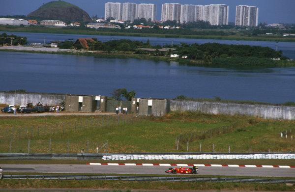 Jacarepagua, Rio de Janeiro, Brazil.1-3 April 1988.Michele Alboreto (Ferrari F187/88C), 5th position, action. World Copyright: LAT Photographic. Ref: 88BRA47