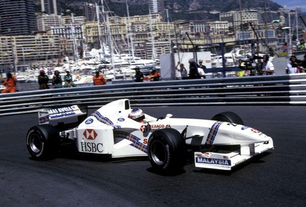 Rubens Barrichello (BRA), Stewart Ford SF01, finished second. Monaco Grand Prix, Rd5, Monte Carlo, Monaco, 11 May 1997.