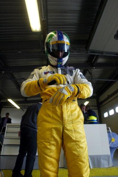Lucas Di Grassi (BRA) Hi Tech Racing.British Formula Three Championship, Press day.Brands Hatch, Kent, England. 24th March 2004Digital Image