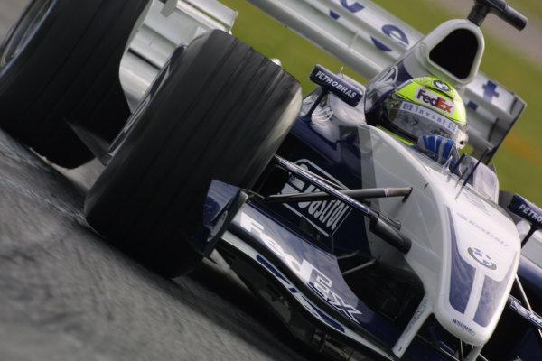 2003 San Marino Grand Prix - Saturday 2nd Qualifying,Imola, Italy.19th April 2003.Ralf Schumacher, BMW Williams FW25, action.World Copyright LAT Photographic.ref: Digital Image Only.