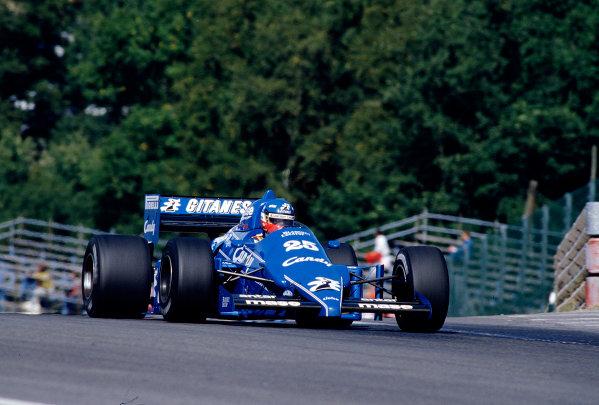 1985 Belgian Grand Prix.Spa-Francorchamps, Belgium.13-15 September 1985.Philippe Streiff (Ligier JS25 Renault) 9th position.Ref-85 BEL 38.World Copyright - LAT Photographic
