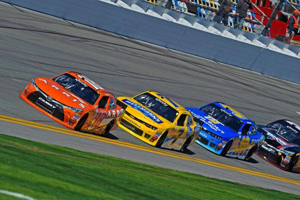 20-21 February, 2015, Daytona Beach, Florida USA Daniel Suarez, Arris Toyota Camry leads Regan Smith and Ryan Sieg ?2015, F. Peirce Williams LAT Photo USA