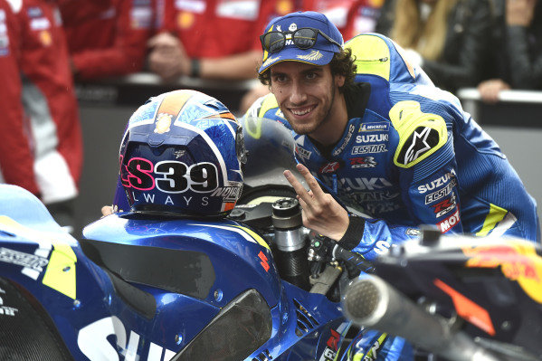 Second place Alex Rins, Team Suzuki MotoGP.