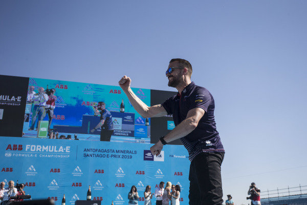 Leon Price, Team and Sporting manager, Envision Virgin Racing, heads to the podium