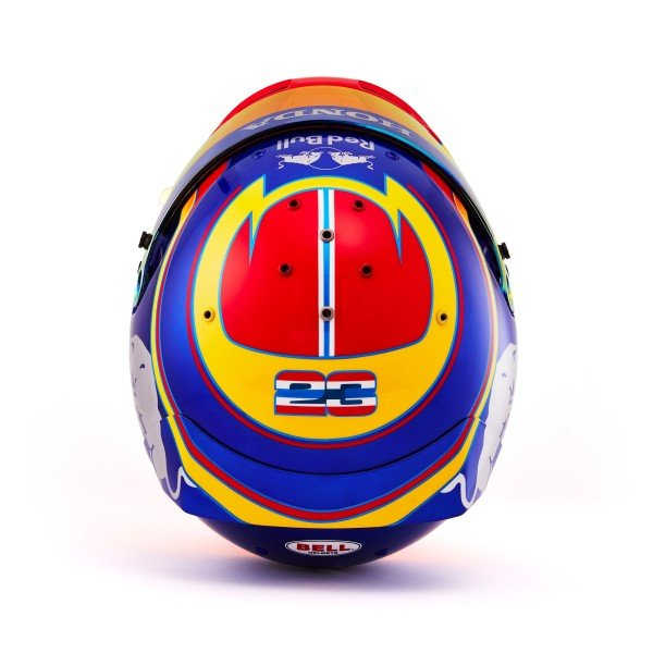 The 2019 helmet of Alex Albon, Scuderia Toro Rosso