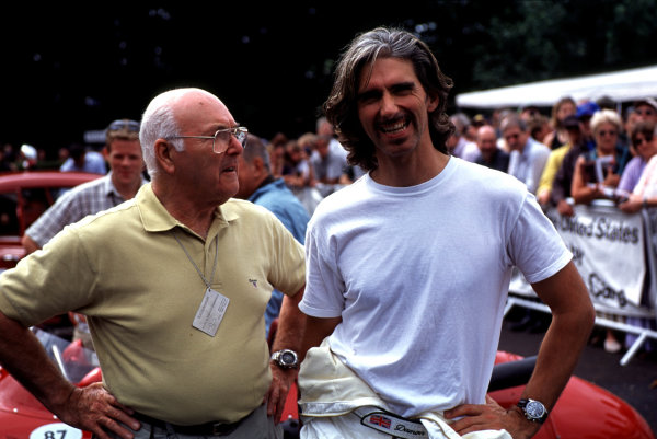 2001 Goodwood Festival of SpeedGoodwood, England. 6th -8th July 2001Murray Walker and Damon HillWorld Copyright - LAT Photographicref: 35mm Image A16