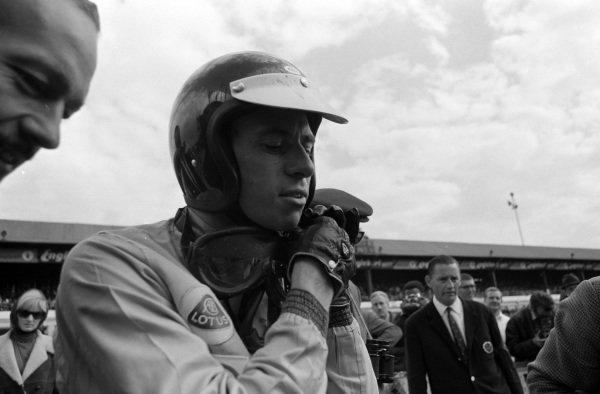 Jim Clark after claiming victory.