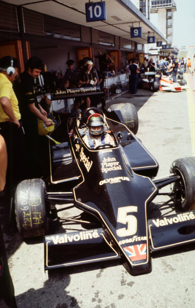 1978 Spanish Grand Prix.Jarama, Spain.2-4 June 1978.Mario Andretti (Lotus 79 Ford) 1st position.World Copyright - LAT Photographic