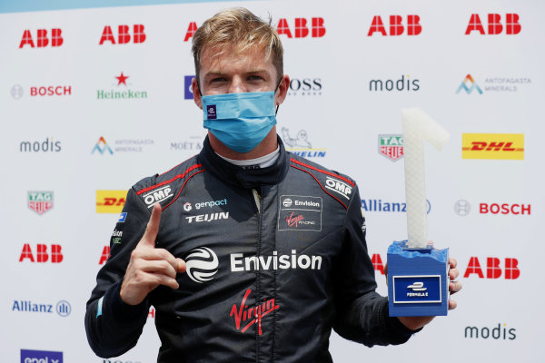 Nick Cassidy (NZL), Envision Virgin Racing, with his pole trophy