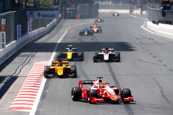 Mick Schumacher (DEU, PREMA RACING) and Dorian Boccolacci (FRA, CAMPOS RACING)