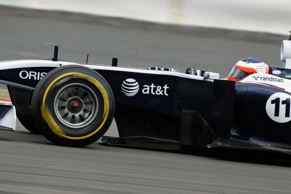 Rubens Barrichello (BRA) Williams FW33. Formula One World Championship, Rd 10, German Grand Prix, Practice Day, Nurburgring, Germany, Friday 22 July 2011.