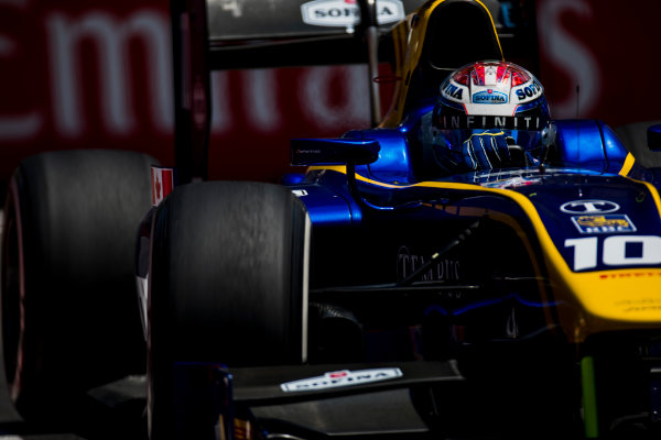 2017 FIA Formula 2 Round 4. Baku City Circuit, Baku, Azerbaijan. Friday 23 June 2017. Nicholas Latifi (CAN, DAMS)  Photo: Zak Mauger/FIA Formula 2. ref: Digital Image _54I9942