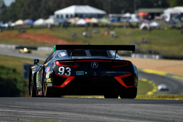 IMSA WeatherTech SportsCar Championship Motul Petit Le Mans Road Atlanta, Braselton GA Thursday 5 October 2017 93, Acura, Acura NSX, GTD, Andy Lally, Katherine Legge, Mark Wilkins World Copyright: Richard Dole LAT Images ref: Digital Image RDPLM038