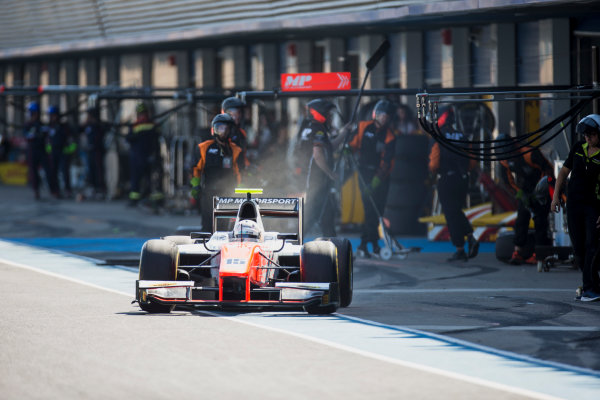 2017 FIA Formula 2 Round 10. Circuito de Jerez, Jerez, Spain. Saturday 7 October 2017. Jordan King (GBR, MP Motorsport).  Photo: Zak Mauger/FIA Formula 2. ref: Digital Image _X0W2019
