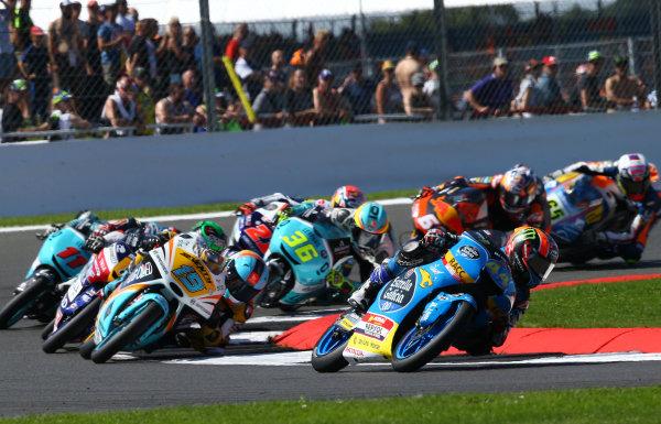 2017 Moto3 Championship - Round 12 Silverstone, Northamptonshire, UK. Sunday 27 August 2017 Aron Canet, Estrella Galicia 0,0 World Copyright: Gold and Goose / LAT Images ref: Digital Image 689999