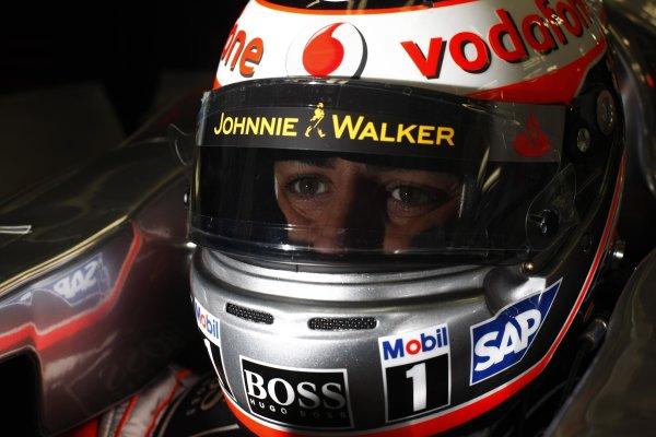 2007 Brazilian Grand Prix - Friday PracticeInterlagos, Sao Paulo, Brazil19th October 2007.Fernando Alonso, McLaren MP4-22 Mercedes. Portrait. Helmets. World Copyright: Steven Tee/LAT Photographicref: Digital Image _77A9495