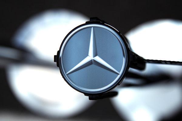 Interlagos, Sao Paulo, Brazil. 24th November 2011. Mercedes GP badge. Detail. Logos. World Copyright: Steve Etherington/LAT Photographic ref: Digital Image SNE24008