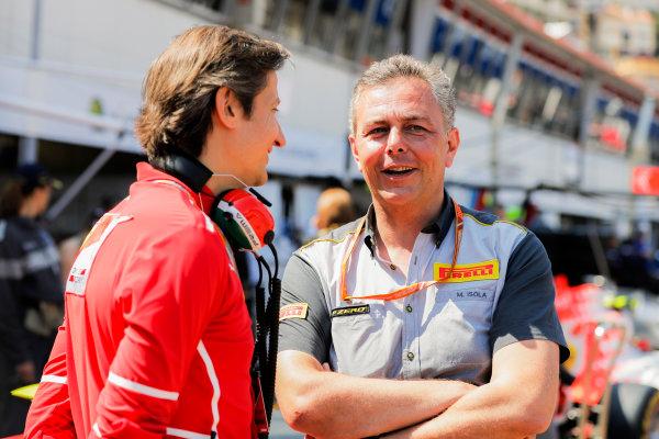 Monte Carlo, Monaco. Saturday 27 May 2017. Massimo Rivola, Sporting Director, Ferrari, with Mario Isola, Racing Manager, Pirelli Motorsport. World Copyright: Zak Mauger/LAT Images ref: Digital Image _56I7215