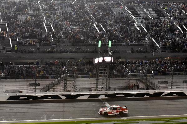 2017 Xfinity - Powershares QQQ 300 Daytona International Speedway, Daytona Beach, FL USA Saturday 25 February 2017 Ryan Reed takes the checkered flag and the win World Copyright: Nigel Kinrade/LAT Images ref: Digital Image _DSC6923