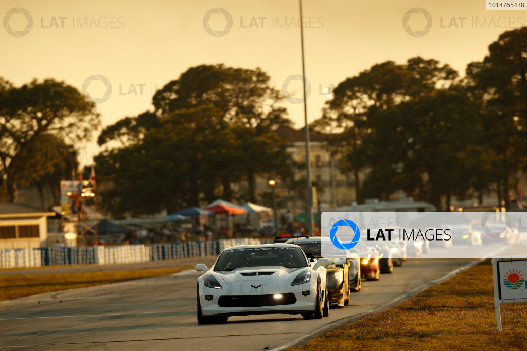 2017 IMSA WeatherTech SportsCar Championship Mobil 1 Twelve Hours of Sebring Sebring International Raceway, Sebring, FL USA Saturday 18 March 2017 Corvette pace car World Copyright: Michael L. Levitt/LAT Images ref: Digital Image levitt_seb_0317-26780