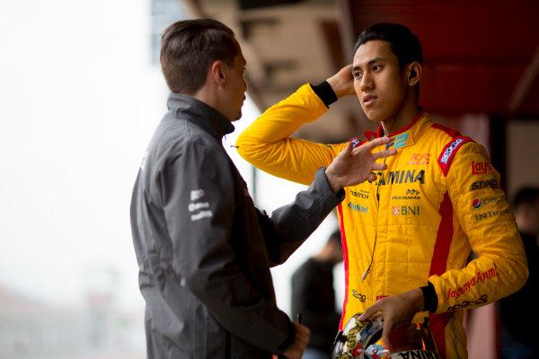 Circuit de Barcelona Catalunya, Barcelona, Spain. Monday 13 March 2017. Sean Gelael (INA, Pertamina Arden). Photo: Alastair Staley/FIA Formula 2 ref: Digital Image 580A9141