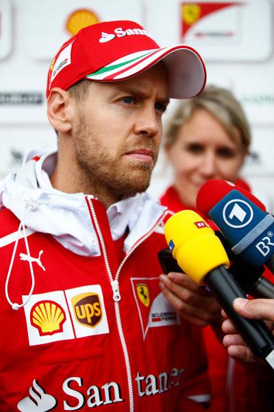 Shanghai International Circuit, Shanghai, China.  Friday 07 April 2017. Sebastian Vettel, Ferrari. World Copyright: Andy Hone/LAT Images ref: Digital Image _ONZ4342