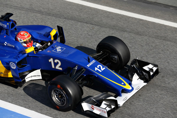 Circuit de Catalunya, Barcelona, Spain Thursday 25 February 2016. Felipe Nasr, Sauber C35 Ferrari. World Copyright: Alastair Staley/LAT Photographic ref: Digital Image _R6T1178