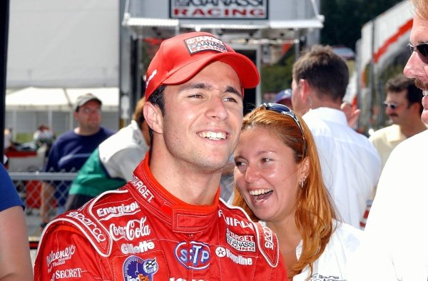 CART FedEx Championship Series.Grand Prix of Road America, Round 12August  16-18, 2002.Elkhart Lake, Wisconsin, USABruno Junqueira (BRA) after taking the pole.Digital Image