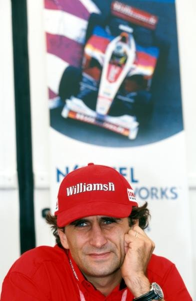Alex ZanardiÕs (ITA) Williams miserable season continued when he retired with a blown engine.
